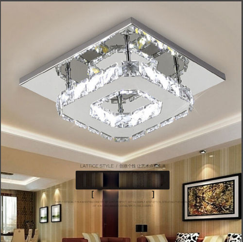 NEW Square 20cm 12W LED Crystal Ceiling