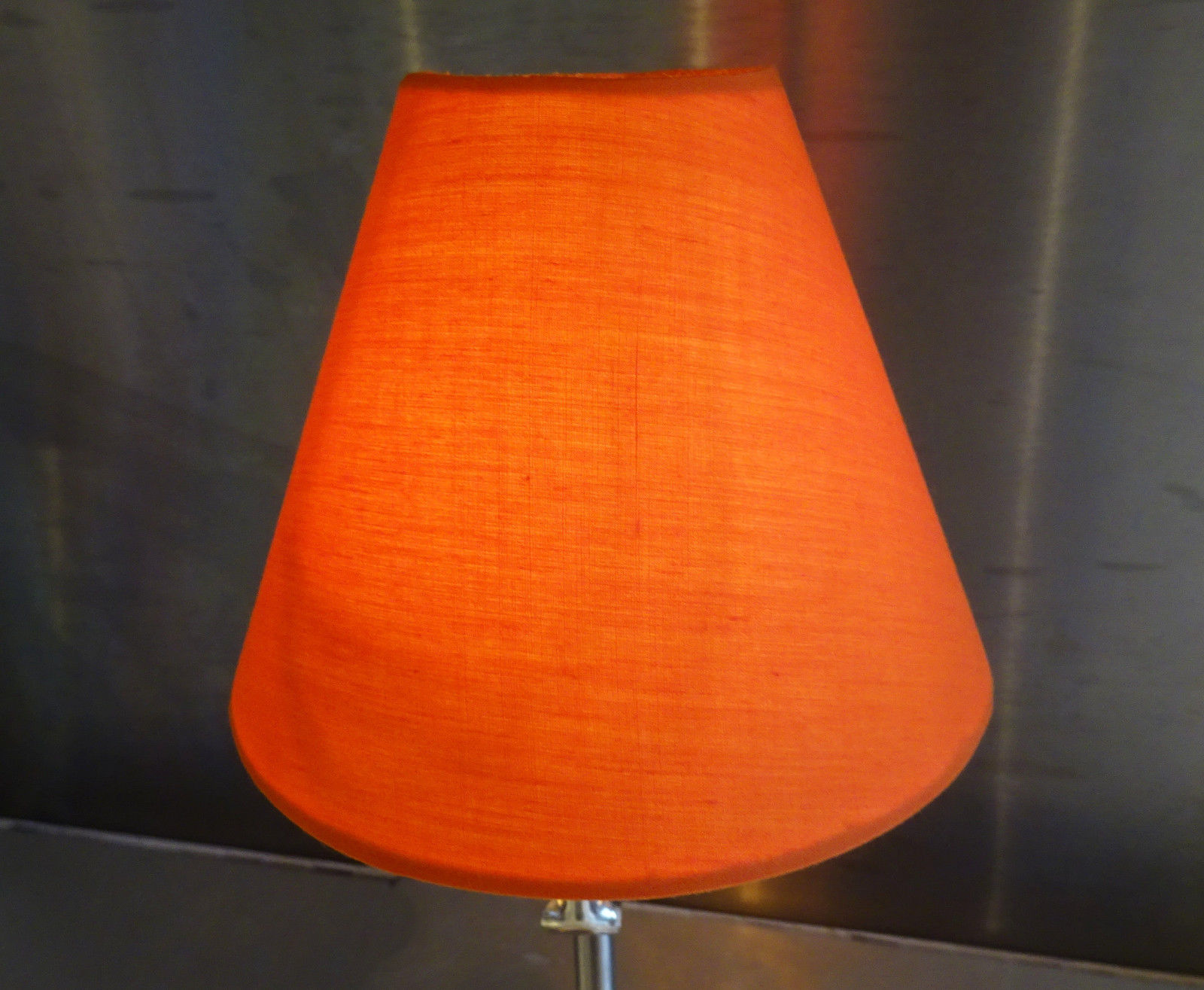 CANDLE LAMPSHADE CLIP-ON CHANDELIER WALL LIGHT PENDANT SHADE ORANGE RETRO KITSCH - Cheap ...