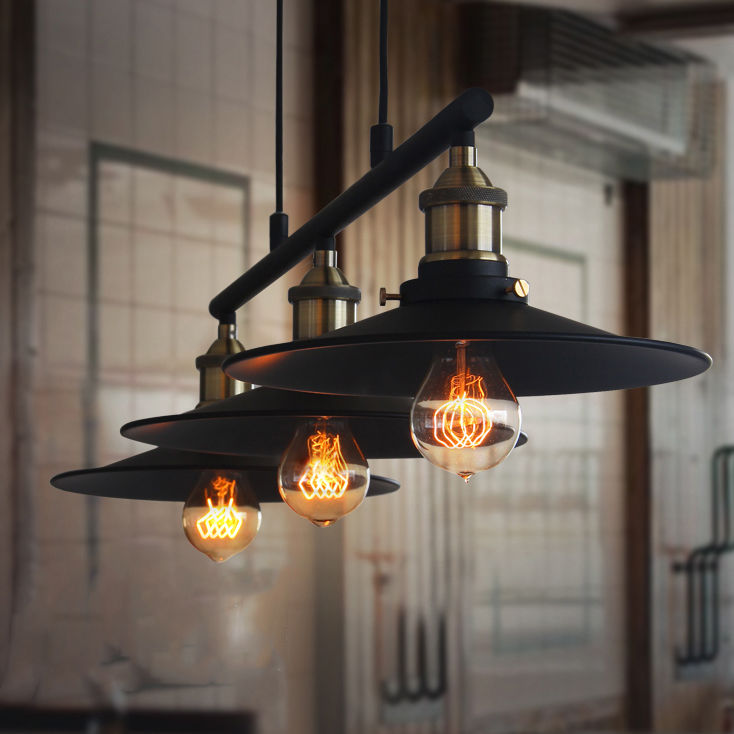 Retro Hanging Ceiling Light Vintage Industrial Pendant Retractable Pulley Lamp Cheap