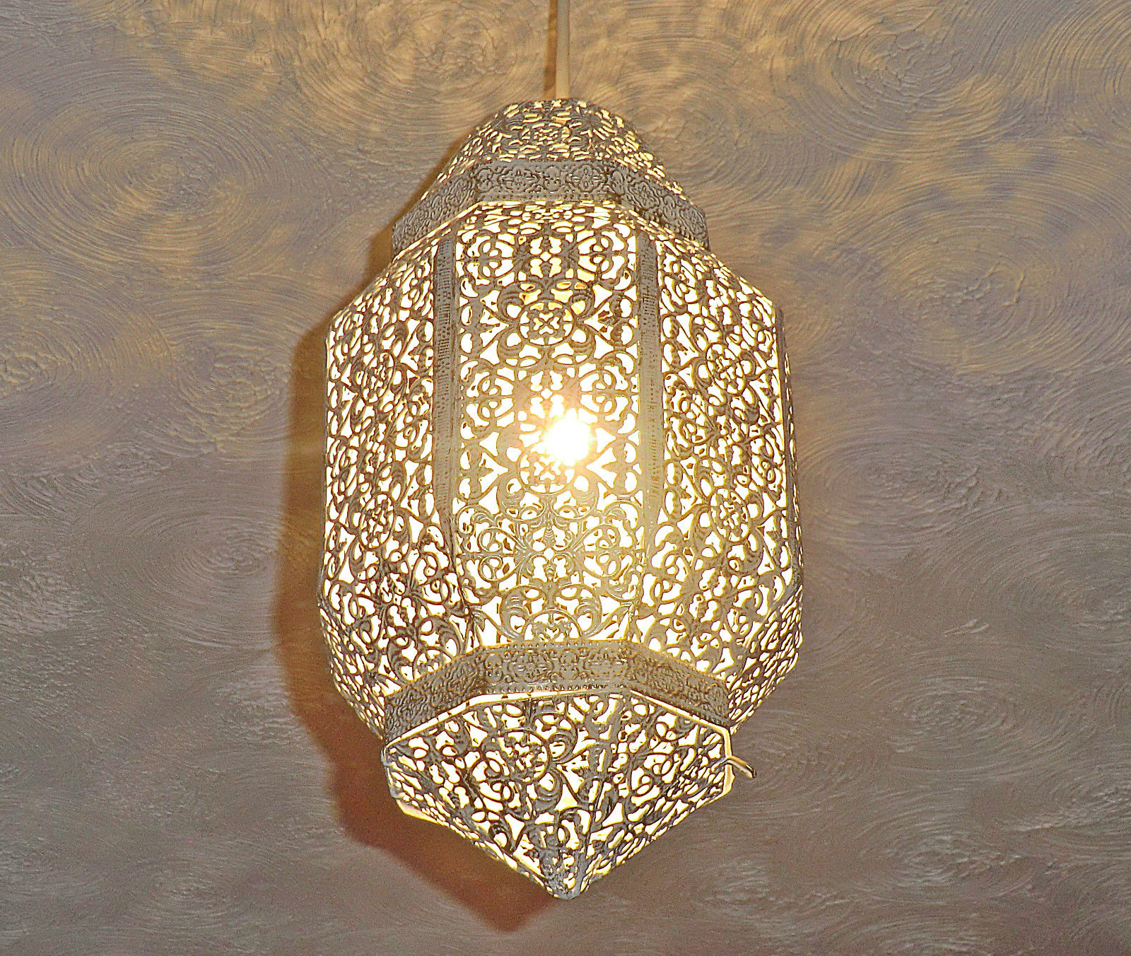 Cream Moroccan Chic Ornate Chandelier Pendant Light Shabby Lamp Shade Lantern Cheap Chandeliers Uk