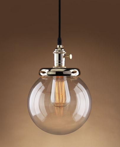 Retro Vintage Cluster Hanging Ceiling Lights Globe 3 Glass