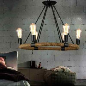 Fixture Chandelier Vintage Morden Hotel Dining Room Bar Shop Deco Pendant Light