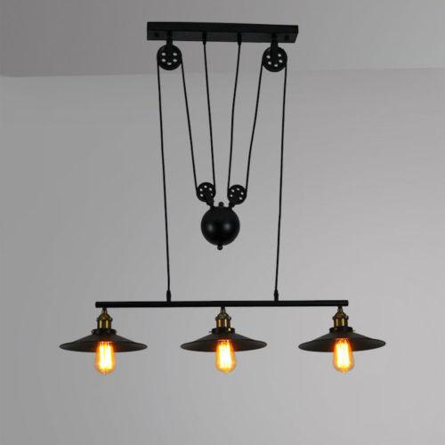 Edison Vintage Industrial Pendant Retractable Chandelier Light Adjustable Lamp Cheap
