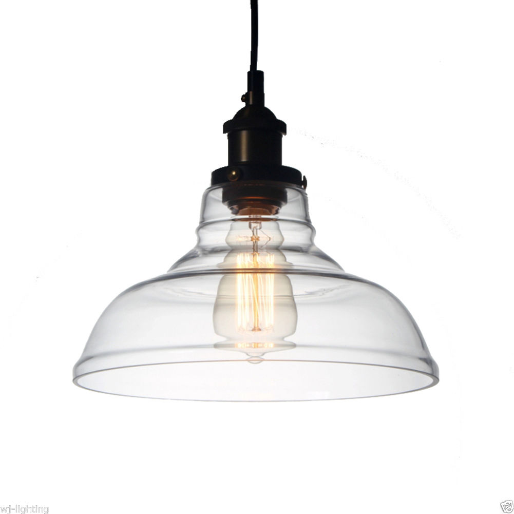 Clear Glass Shade Ceiling Vintage Retro Chandelier Fitting Pendant Lamp Light Cheap Chandeliers Uk
