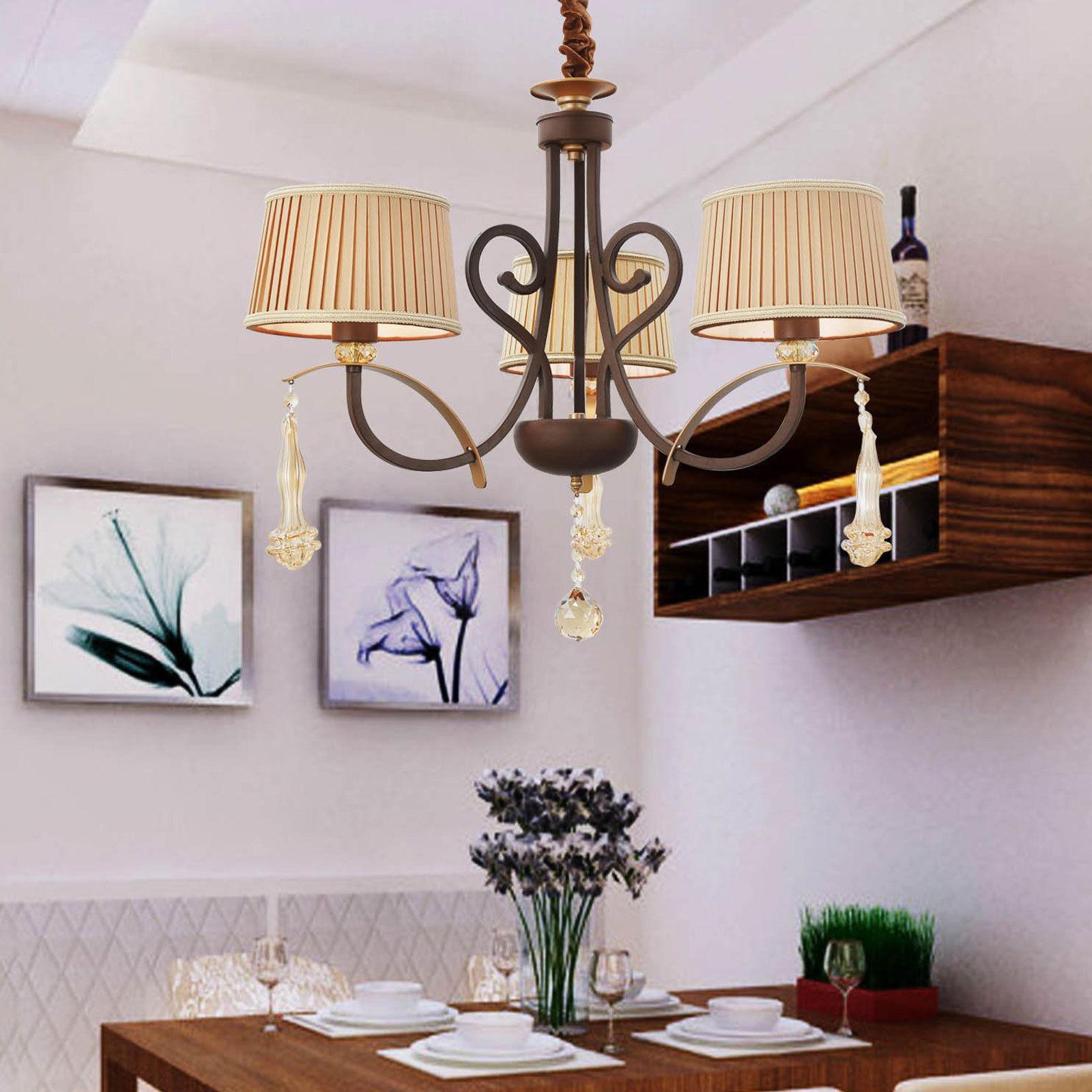 crystal chandelier modern elegant romantic retro lamp shade ceiling