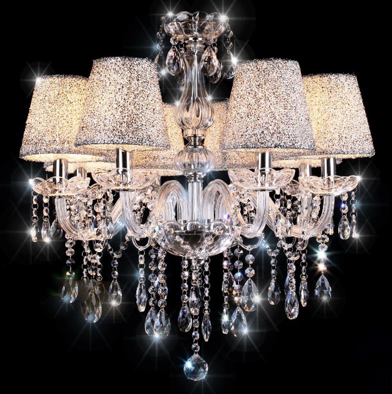 Crystal Chandelier Clear 6 8 10 Arm Candle Lamp Water: crystal candle chandelier
