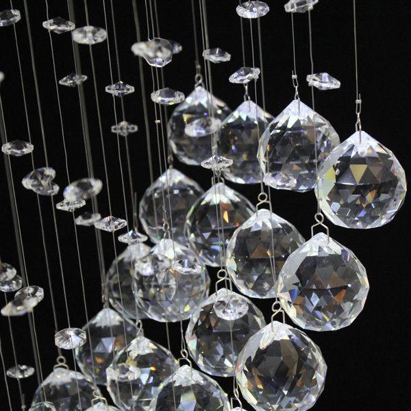 Modern Heart Crystal Pendant Lamp Ceiling Light Rain Drop Chandelier