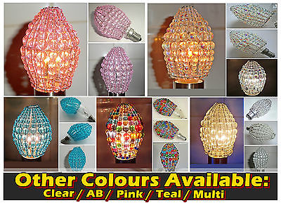 Chandelier glass beads light candle bulb cover crystals drops retro chandelier glass beads light candle bulb cover crystals drops retro chic colour aloadofball Image collections