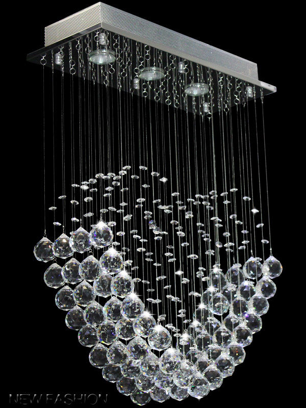 Modern Heart Crystal Pendant Lamp Ceiling Light Rain Drop Chandelier Lighting Cheap Chandeliers Uk