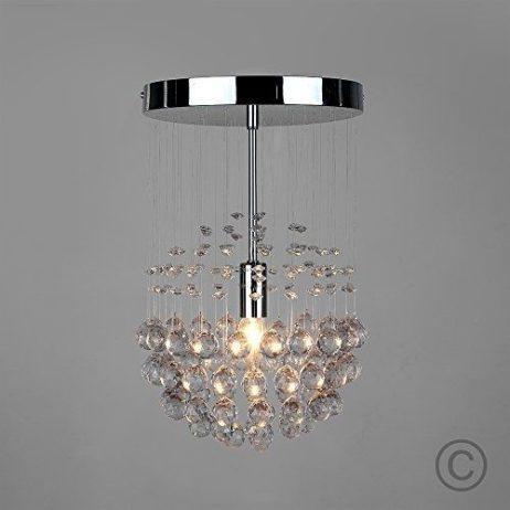 Chrome Pendant Ceiling Light Droplet Modern Chandelier